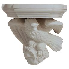 Mid-19th Century Parian Eagle Wall Bracket