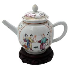 Chinese Export Tea Pot, c.1780