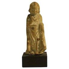Gothic European Terra Cotta Figure