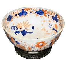 "Early 19th Century English Ironstone ""Imari"" Punch Bowl"