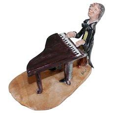 1950s Ceramic Pianist Sculpture by Cesare Poli