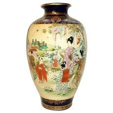 Late Meiji Period Japanese Satsuma Vase