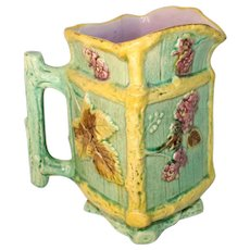 Late 19th Century Majolica Water Pitcher