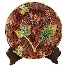 Late 19th Century Majolica Strawberry Plate