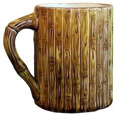Faux Bamboo Majolica Surprise Tankard