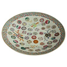 Late Qing Dynasty Chinese Export Chop Plate