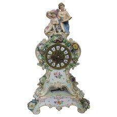 Monumental Meissen Clock