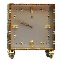 Stylish Omega Gilt Bronze Table Clock