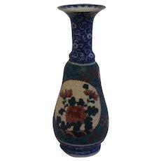 Blue Imari/Arita Body Cloisonne on Porcelain (Totai-Jippo) Vase