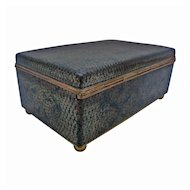 Chinese black ground cloisonne box