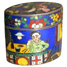 Early 20th Century Chinese Cloisonne Match Safe