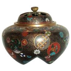 Mid 19th Century Japanese Cloisonne Incense Burner