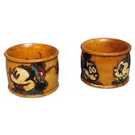 Pair of Mickey and Minnie Mouse Napkin Rings