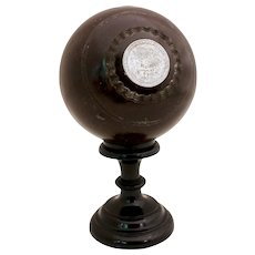 1936 Bowling Ball Trophy with Sterling Insets