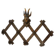 Black Forest Mountain Goat Hat Rack
