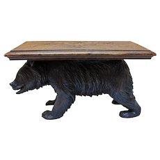 Black Forest Bear Table/Pedestal