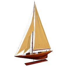 Vintage English Yacht Model