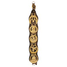 5 Brass Leather Horse Strap