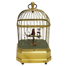 Vintage Singing Bird in Cage