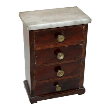 1900s Louis Philippe Style Miniature Commode