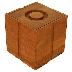 Mid Century Modern Cubist Kalmar Teak Ice Bucket