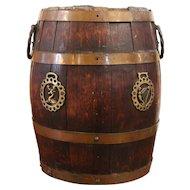 late 19th Century Brass Bound Barrel