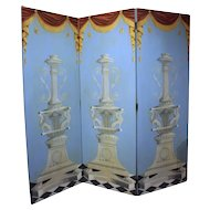 Triple Panel Folding Screen