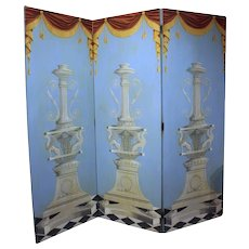 Triple Panel Folding Screen