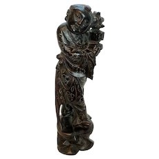 Late Qing Dynasty Hardwood Sculpture
