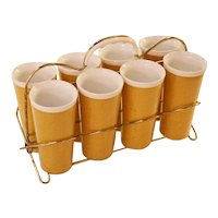 Racked Set of 8 Thermos Tumblers