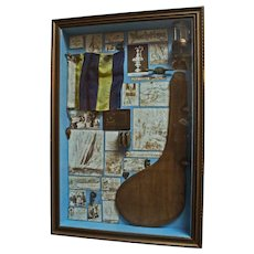 Shadowbox of Yacht Memorabilia