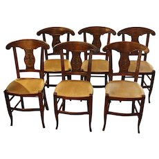 19th Century Set of 6 French Dining Chairs
