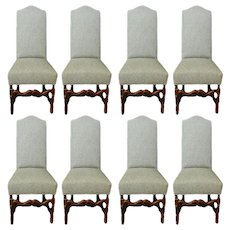 Set of 8 Louis XIII Dining Chairs