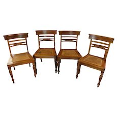 Set of 4 Anglo-Indian Style Regency Taste Side Chairs
