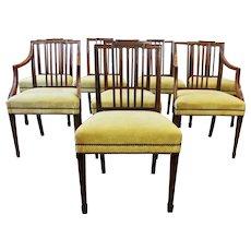 Georgian Set of 8 Dining Chairs