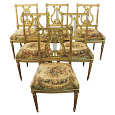Carved & Gilded Ballroom Chairs- Set of 6