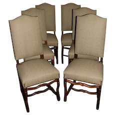Set of 6 Louis XIII Style Dining Chairs