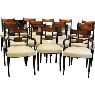 Set of 16 Regency Dining Chairs