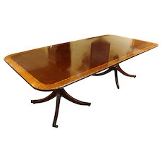 English Double Pedestal Dining Table
