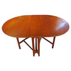 Mid-Century Modern Drop Leaf Table