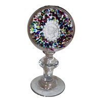 Mid 19th Century French Glass Paperweight of Empress Eugenie