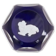 Baccarat Ram Paperweight