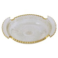 Etched & Gilt Cut Glass Bowl