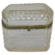 c. 1880 French Cut Glass Jewel Casket