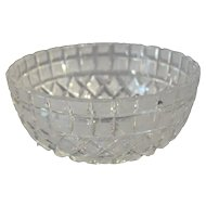 Art Deco Cut Glass Bowl
