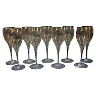 Set of 9 Baccarat Red Wine Glasses