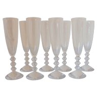 Set of 8 Champagne Glasses