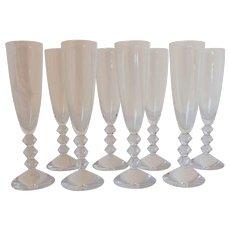 Set of 8 Champagne Glasses