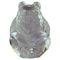Steuben Seated Bear