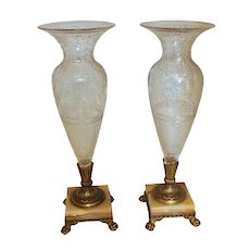 A Pair of Pairpoint Vases